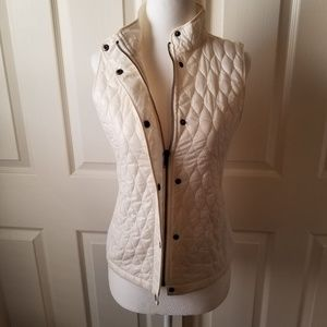 Talbots Zipper Snap Quilted Sweater Side Vest NWOT